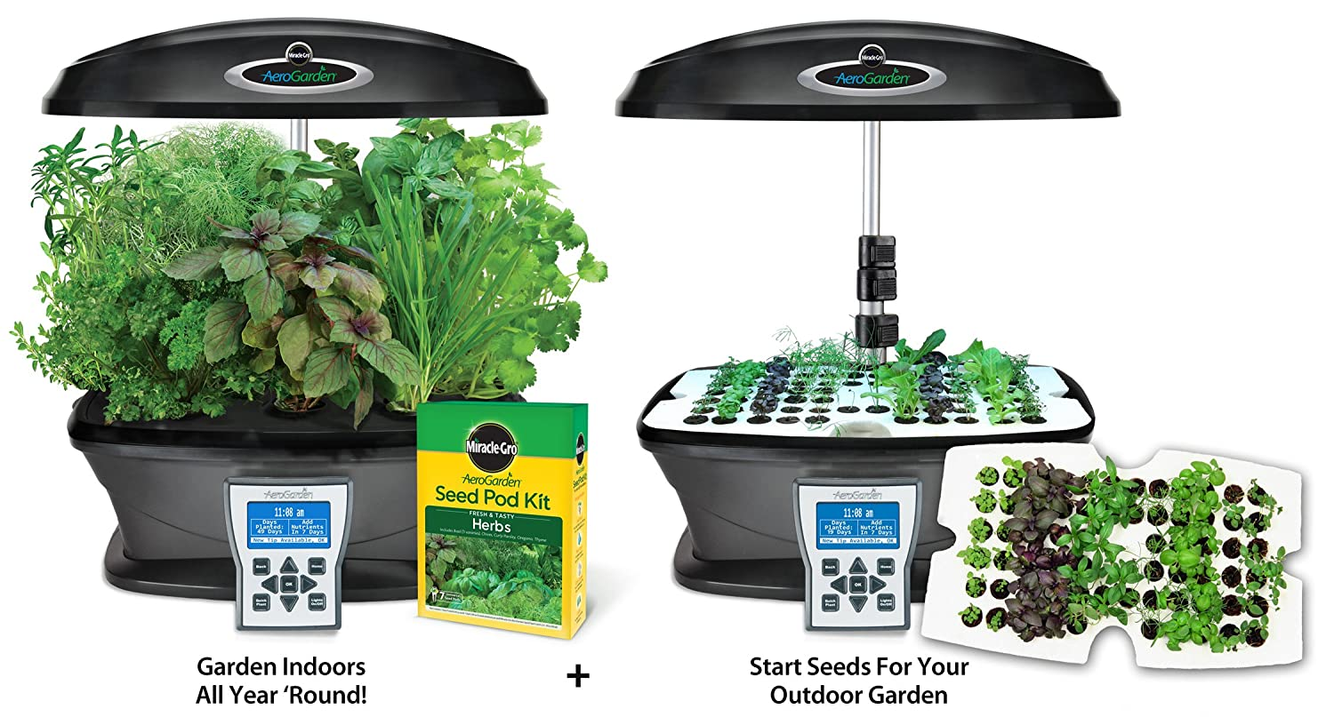 Amazon aerogarden ultra indoor garden with gourmet herb seed amazon aerogarden ultra indoor garden with gourmet herb seed pod kit plus bonus seed starter system garden outdoor workwithnaturefo