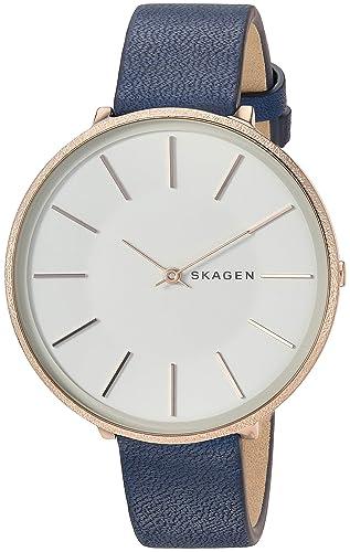 Skagen Reloj Analógico para Mujer de Cuarzo con Correa en Cuero SKW2723: Amazon.es: Relojes