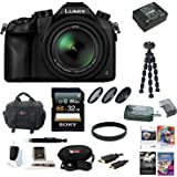 Panasonic Lumix DMC-FZ1000 4K QFHD/HD 16X Long Zoom Digital Camera (Black) wi...