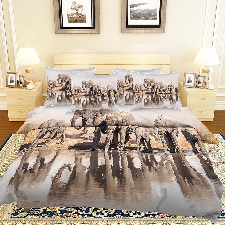 3D 象の川 904 寝具枕カバーキルト羽毛布団カバーセットシングルクイーンキング| 3D写真の寝具 Summer (ツイン) B07C28MP4Z ツイン ツイン