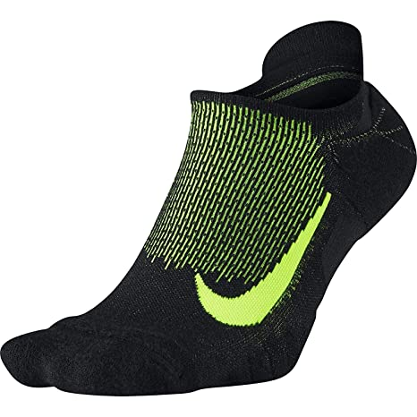 715925119 Image Unavailable. Image not available for. Color: NIKE Spark Wool Cushioned  No-Show Running Socks, Black/Volt ...