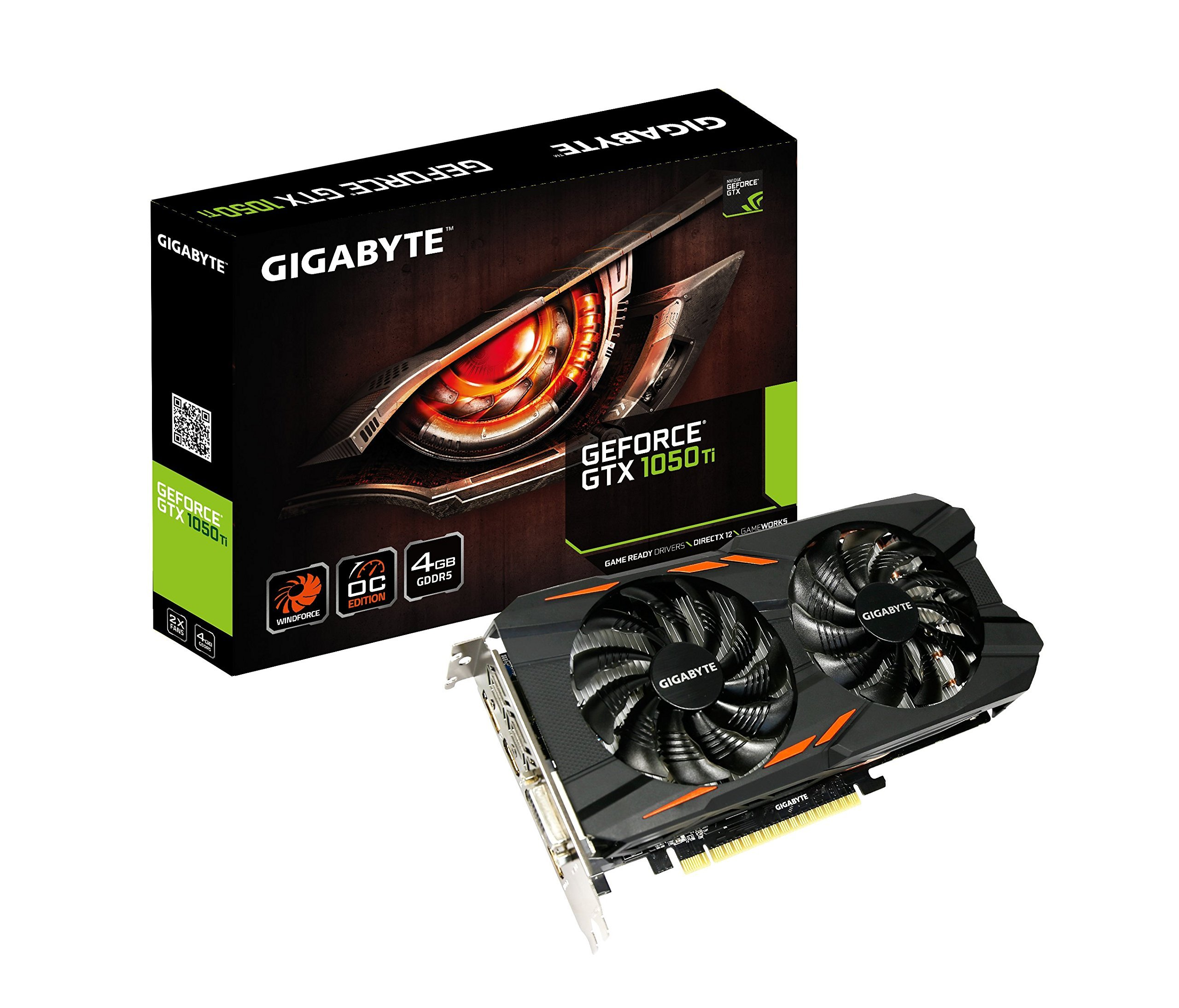 Gigabyte GTX 1050 Ti Windforce OC 4GB GDDR5 128-bit PCI-E Graphic Card (GV-N105TWF2OC-4GD)