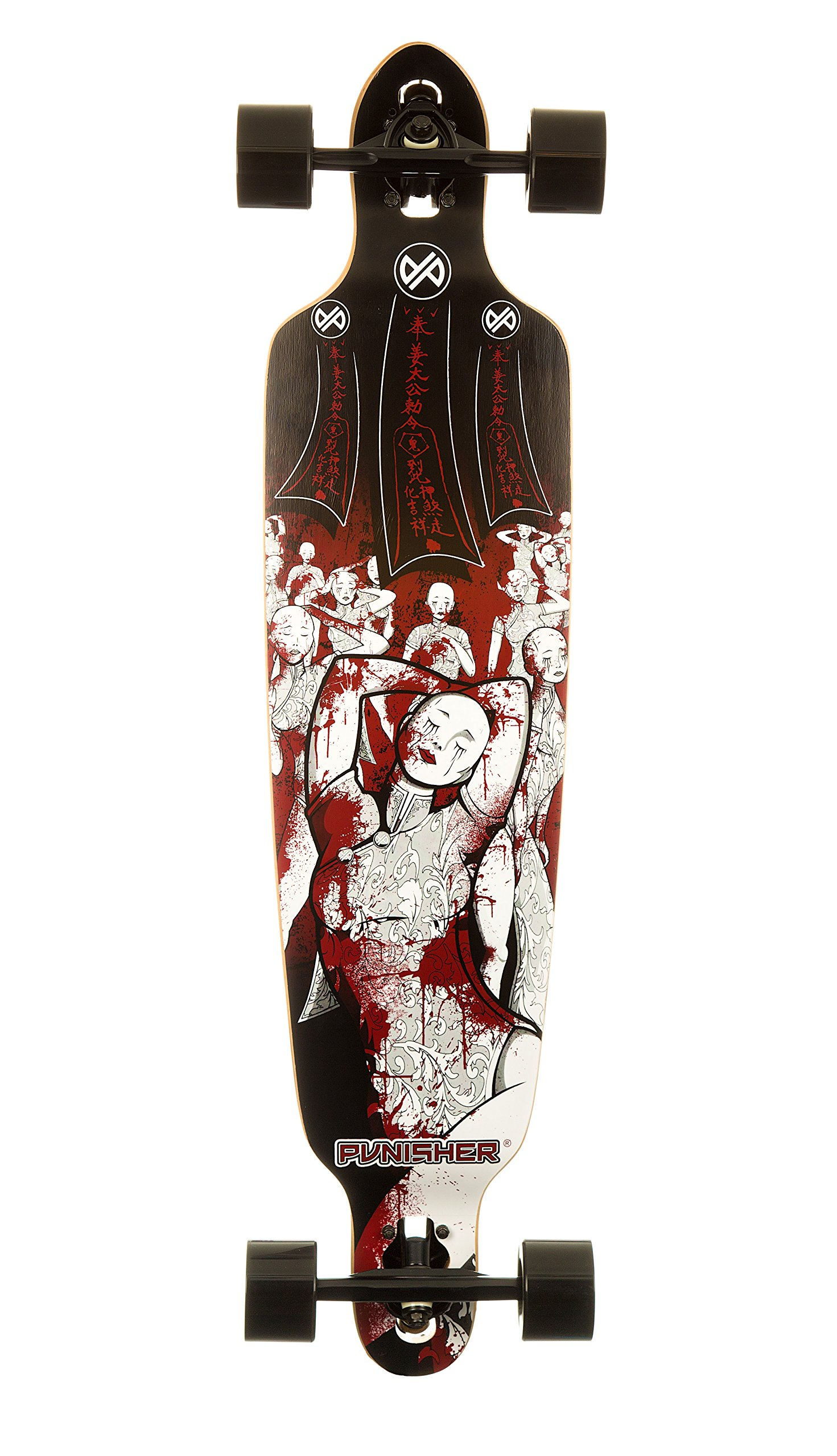 Punisher Skateboards Mannequin Professional Drop Down Complete Longboard Skateboard with Mild Concave, 40-Inch by Punisher Skateboards