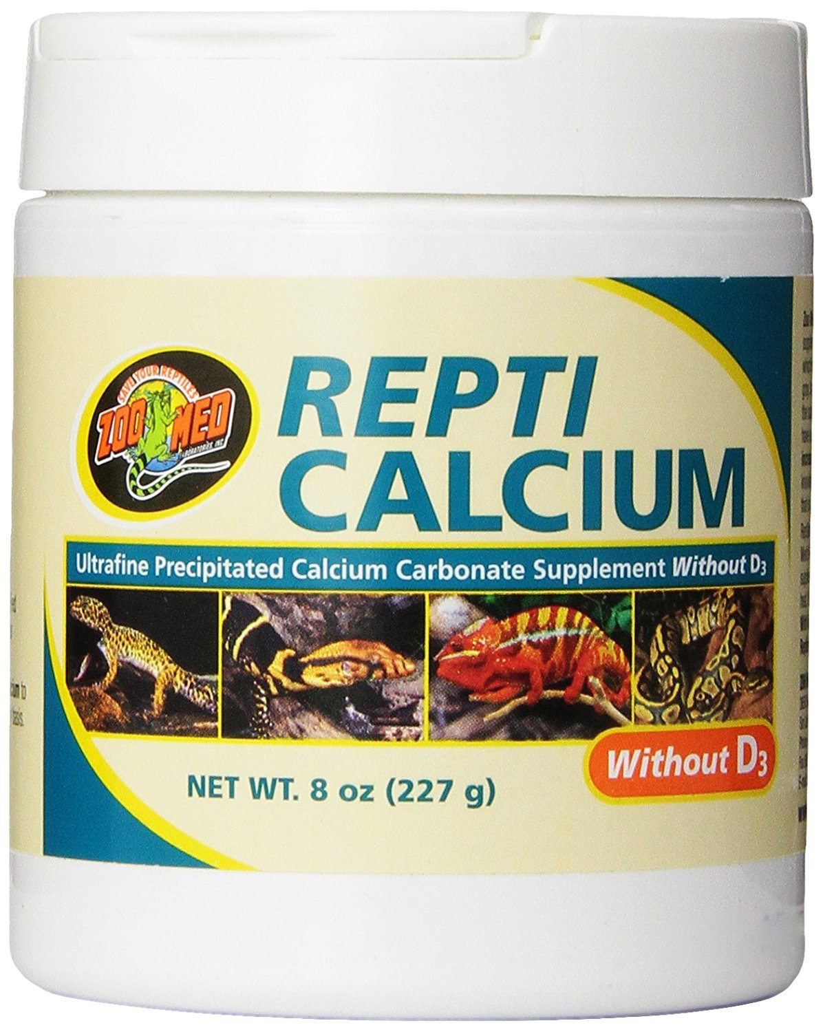 Zoo Med Reptile Calcium Without Vitamin D3, 8-Ounce product image