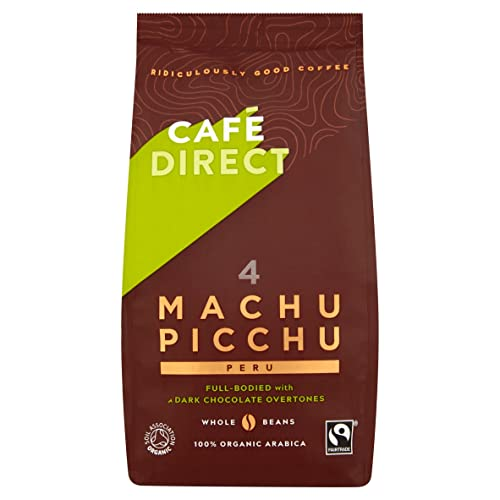 Cafédirect Fairtrade Machu Picchu Organic Whole Beans Coffee 227g (Pack of 2)