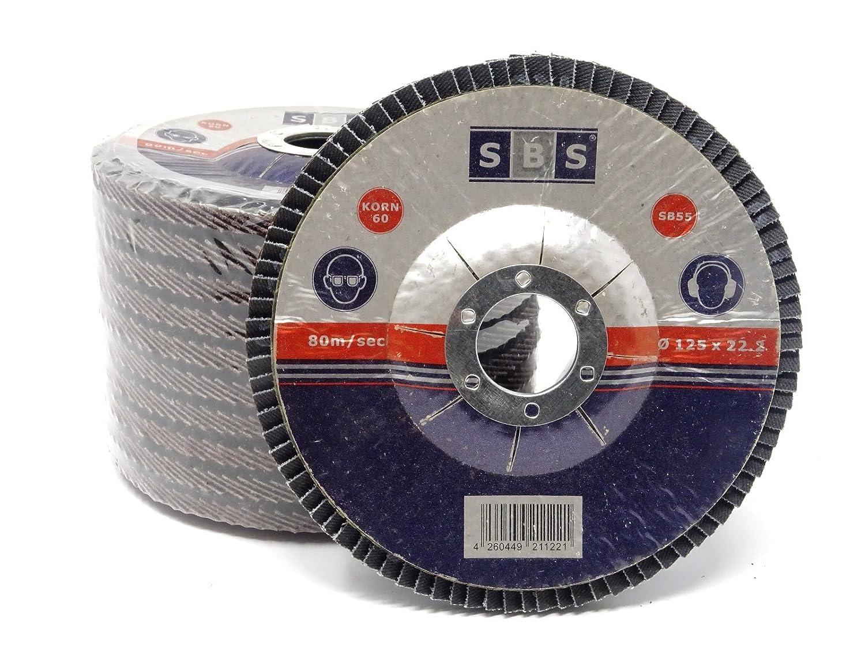 10 discos abrasivos laminados de 125/mm de di/ámetro color azul o marr/ón discos abrasivos