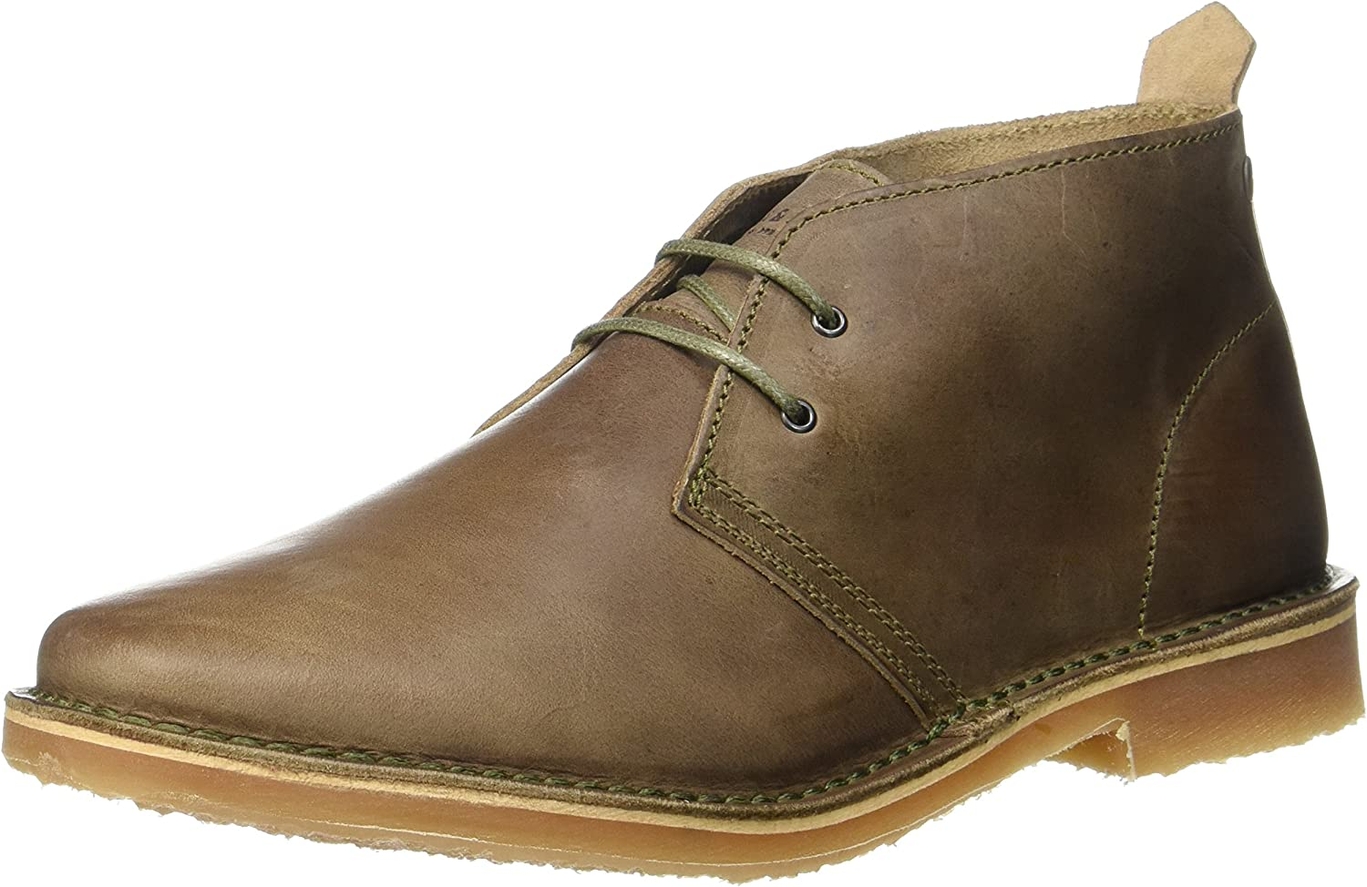TALLA 41 EU. Jack & Jones Jfwgobi Leather Taupe Gray, Botas Desert para Hombre