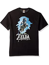 9b02a5a33 Nintendo Mens Zelda Breath of The Wild Link Epona Posing T-Shirt T-Shirt