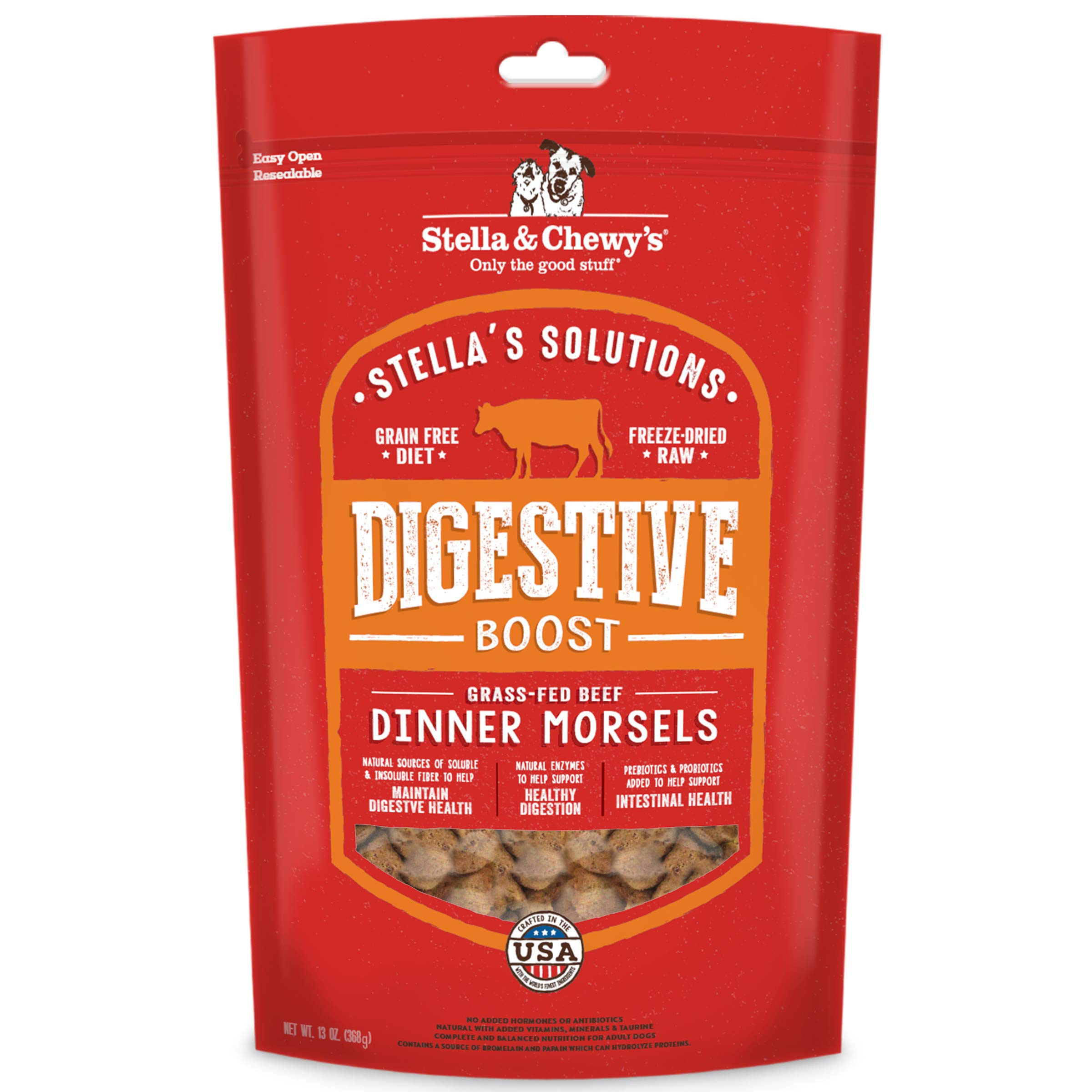 Stella & Chewy's Stella's Solutions Digestive Boost Grass-Fed Beef Dinner Morsels Freeze-Dried Dog Food, 13 oz by Stella & Chewy's
