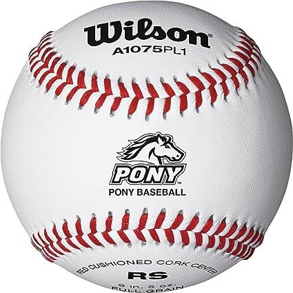 Amazon.com: Wilson Pony Liga Raised costura Béisbol (12 ...