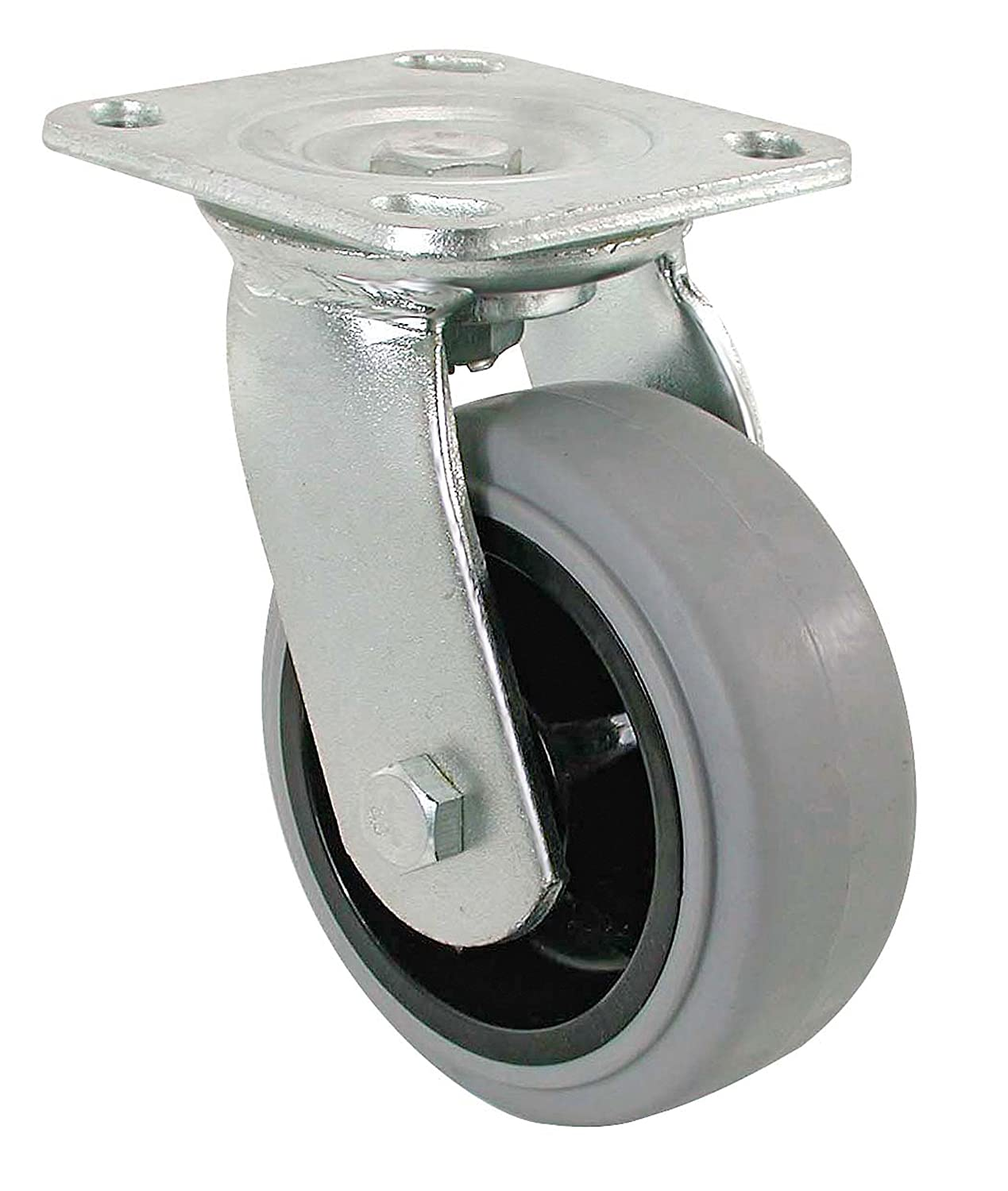 550-lb Load Capacity Shepherd Hardware 3183 6-Inch Thermoplastic Rubber Swivel Plate Caster