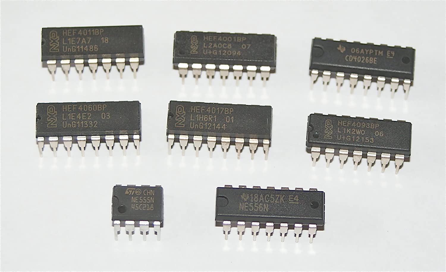 Integrated Circuit Selection Cmos 4001 4011 4017 4026 Amazonco Ic Ne555 Ne555p 555 Dip 8 Timers New High Quality Electronics