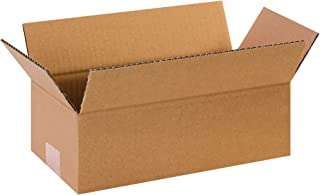 "product image for Partners Brand P1254 Corrugated Boxes, 12""L x 5""W x 4""H, Kraft (Pack of 25)"