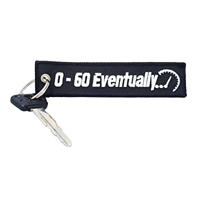 CG Keytags - Unique Keychains for Motorcycles, Scooters, Cars, Gifts, and More (0-60 Eventually): Automotive