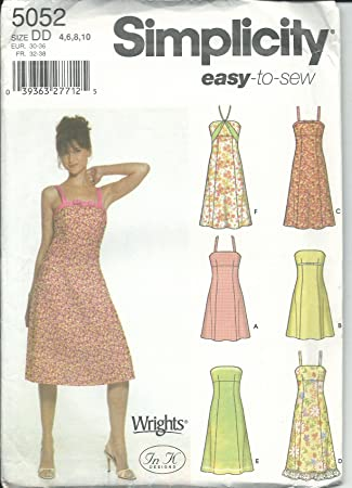 Amazon Simplicity Sewing Pattern 400 Misses Size 4040 Easy Fascinating Sundress Sewing Pattern