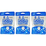 3-PACK Hydrapak Bottle Bright 12 Count Biodegradable Bottle Cleaning Tablets, Chlorine Free & All Natural, Safe Way to Clean and Odor-free Bottles