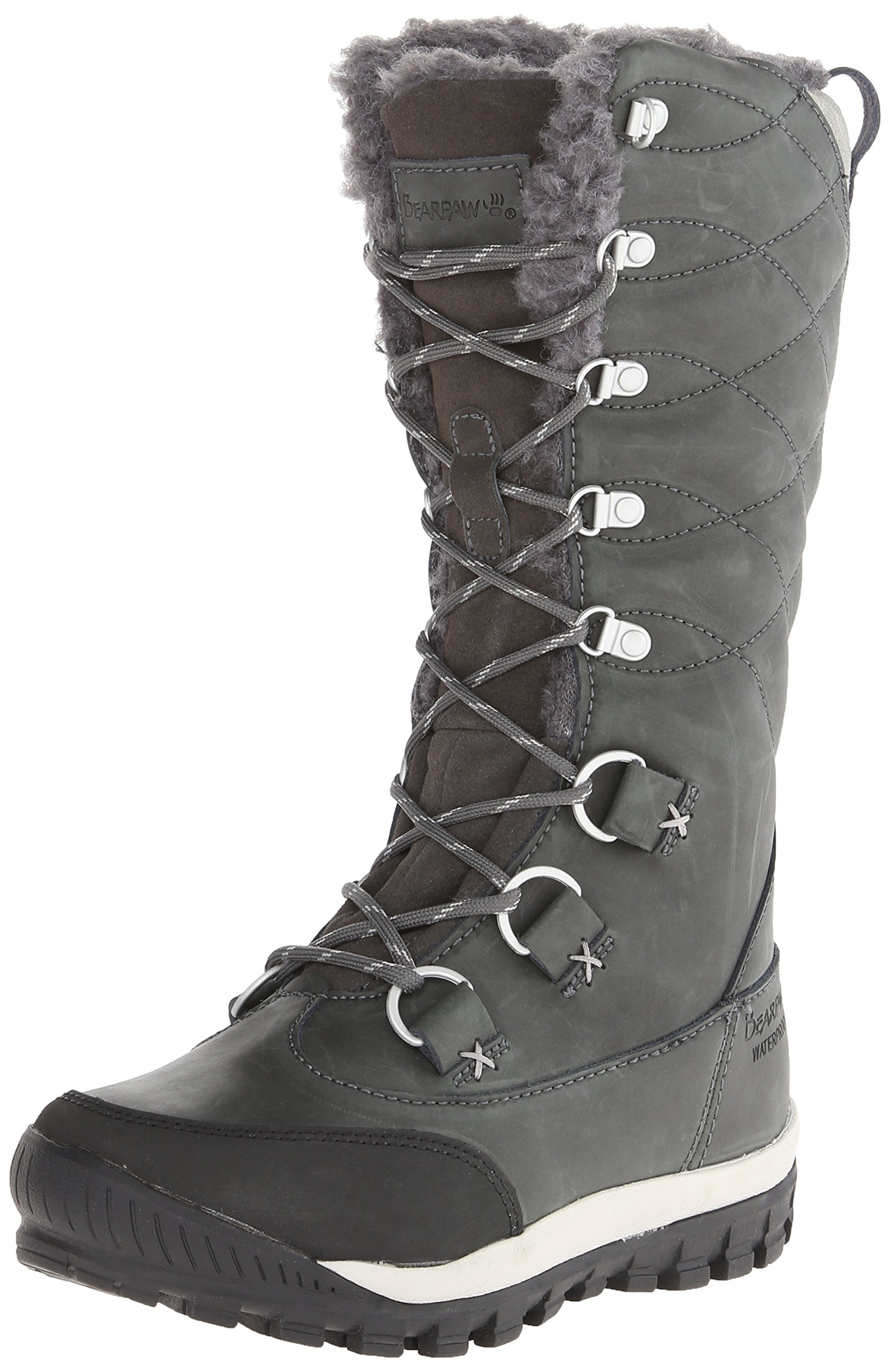 BEARPAW Women's Isabella Winter Boot, Charcoal, 6 M US