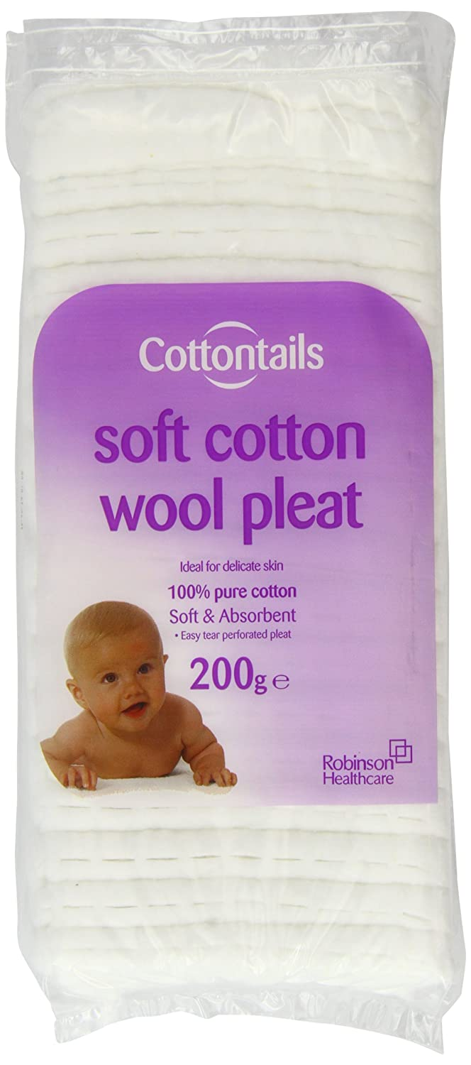Cottontails 200g Cotton Wool Pleat Robinsoncare(Consumer) 3564085