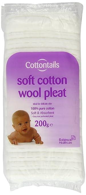 Robinson Healthcare COTTONTAILS Watteb/ällchen 200/g Baumwolle Wolle Falte