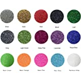 "Fame Crafts Glitter Heat Transfer Vinyl (HTV), 12"" x 10"" 15-Color Starter BUNDLE"