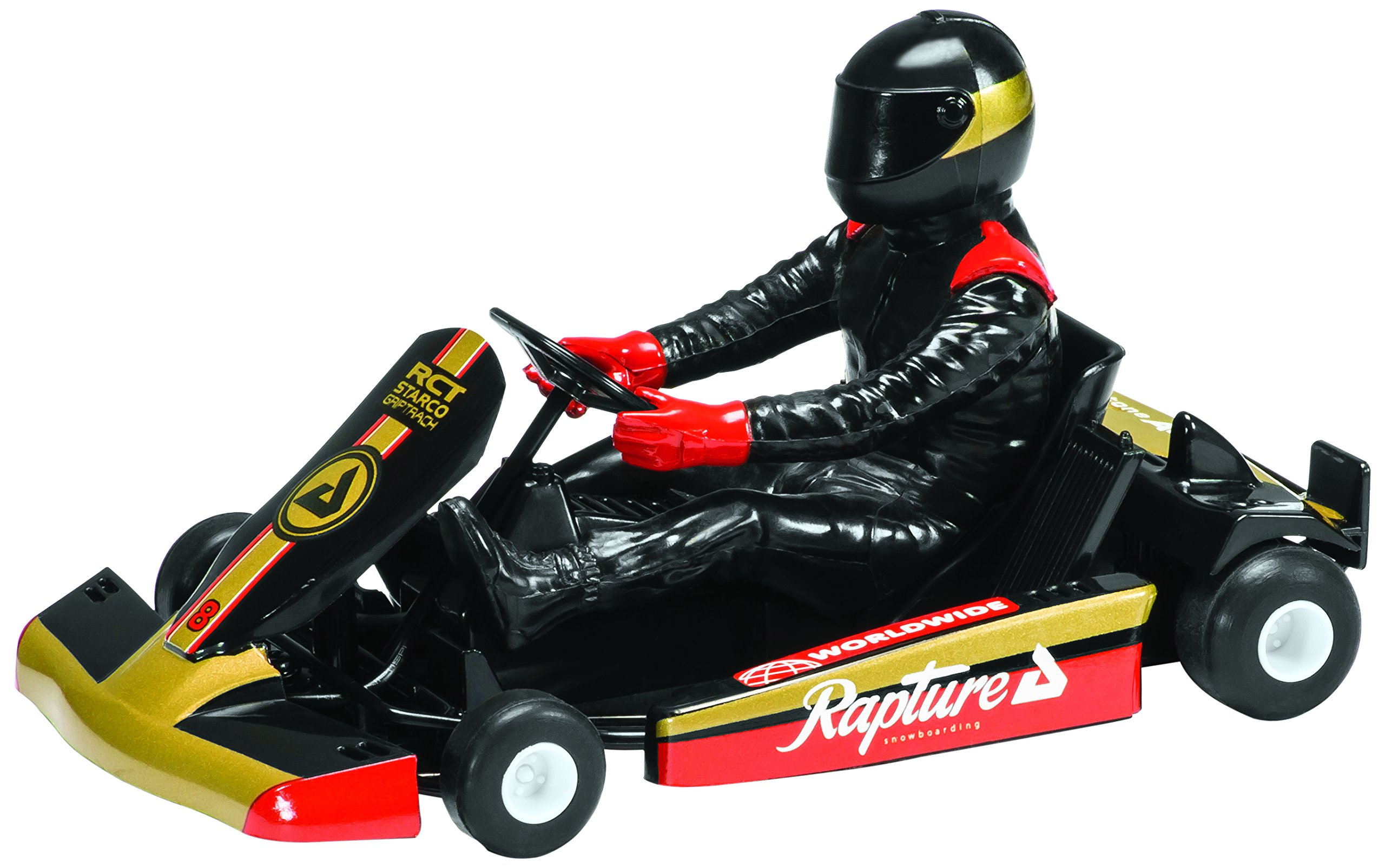 Scalextric Super Kart 1 Black #8 1:32nd Scale Slot Car by Scalextric (Image #1)