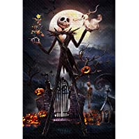 Jigsaw Puzzle 1000 Piece Wooden Puzzle Halloween Picture Family Decorations, Unique Birthday Present Suitable for…