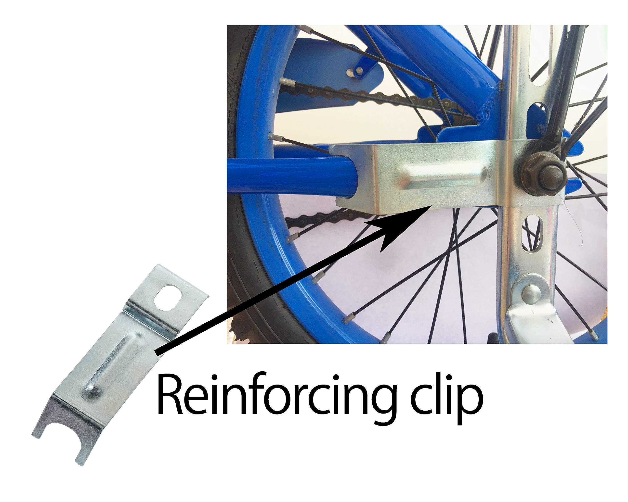 MOSHAY Training Wheels for Children's Bicycle stabiliser(for 14 16 18 20 inch Bike) (B-Green)