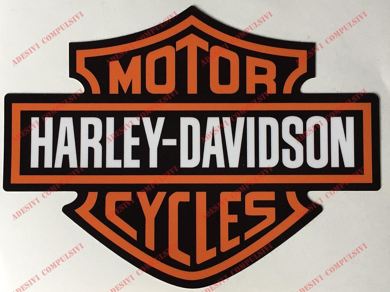 Stemma logo decal HARLEY DAVIDSON, coppia adesivi. Per SERBATOIO, CASCO E SUPERFICI LISCE Adesivi Compulsivi