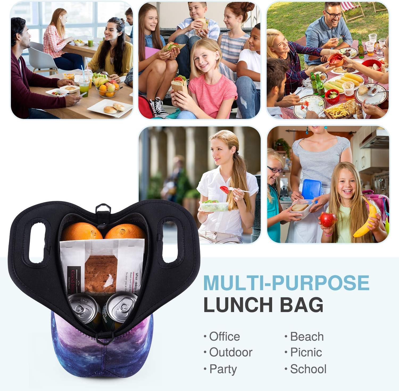 Bolsas de almuerzo de neopreno para mujeres Ni/ños Ni/ñas Adolescentes Bolsa de almuerzo con aislamiento Caja de almuerzo linda impermeable para el trabajo Viaje escolar y picnic