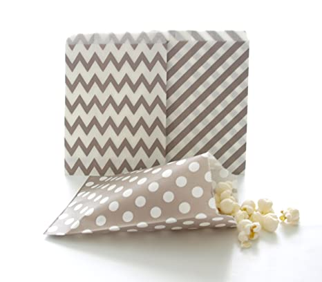 Amazon.com: Candy Bar bolsas, bolsas de fiesta, de plata ...