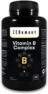 Complejo de Vitaminas B, 200 perlas | Contiene las ocho Vitaminas B (B1,