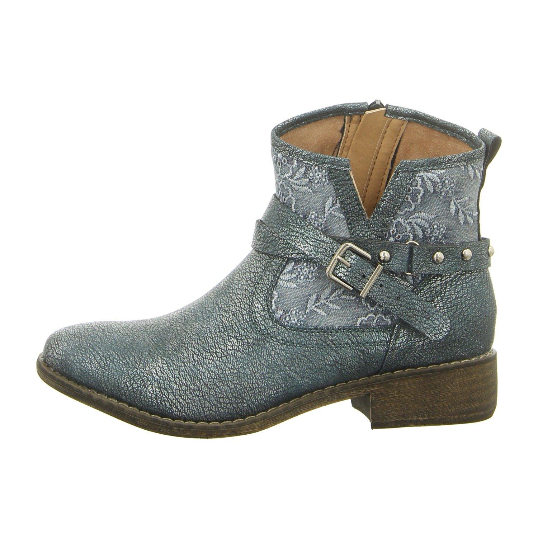 Laufsteg München Fs180801-b2 Denim - Zapatos de Cordones Para Mujer Azul Denim 41 EU|Denim