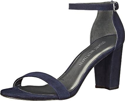 6abb70f77e8 Stuart Weitzman Women's Nearlynude Nice Blue Suede Sandal 7 N