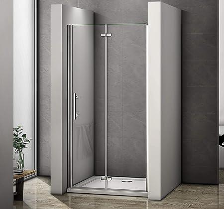 Perfect 700mm Frameless Bifold Shower Door 6mm Glass Enclosure Cubicle