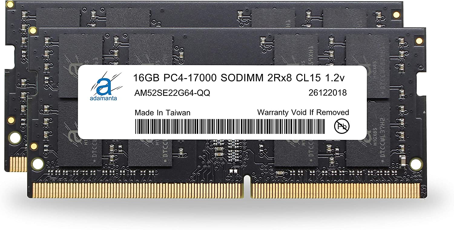 2x16GB Adamanta 32GB Laptop Memory Upgrade Compatible for MSi GP72 Leopard Pro-694 DDR4 2133 PC4-17000 SODIMM 2Rx8 CL15 1.2v Notebook RAM