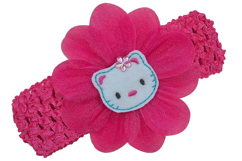 Amazon.com: Baby Girl ganchillo Headband Con Fieltro Kitty ...