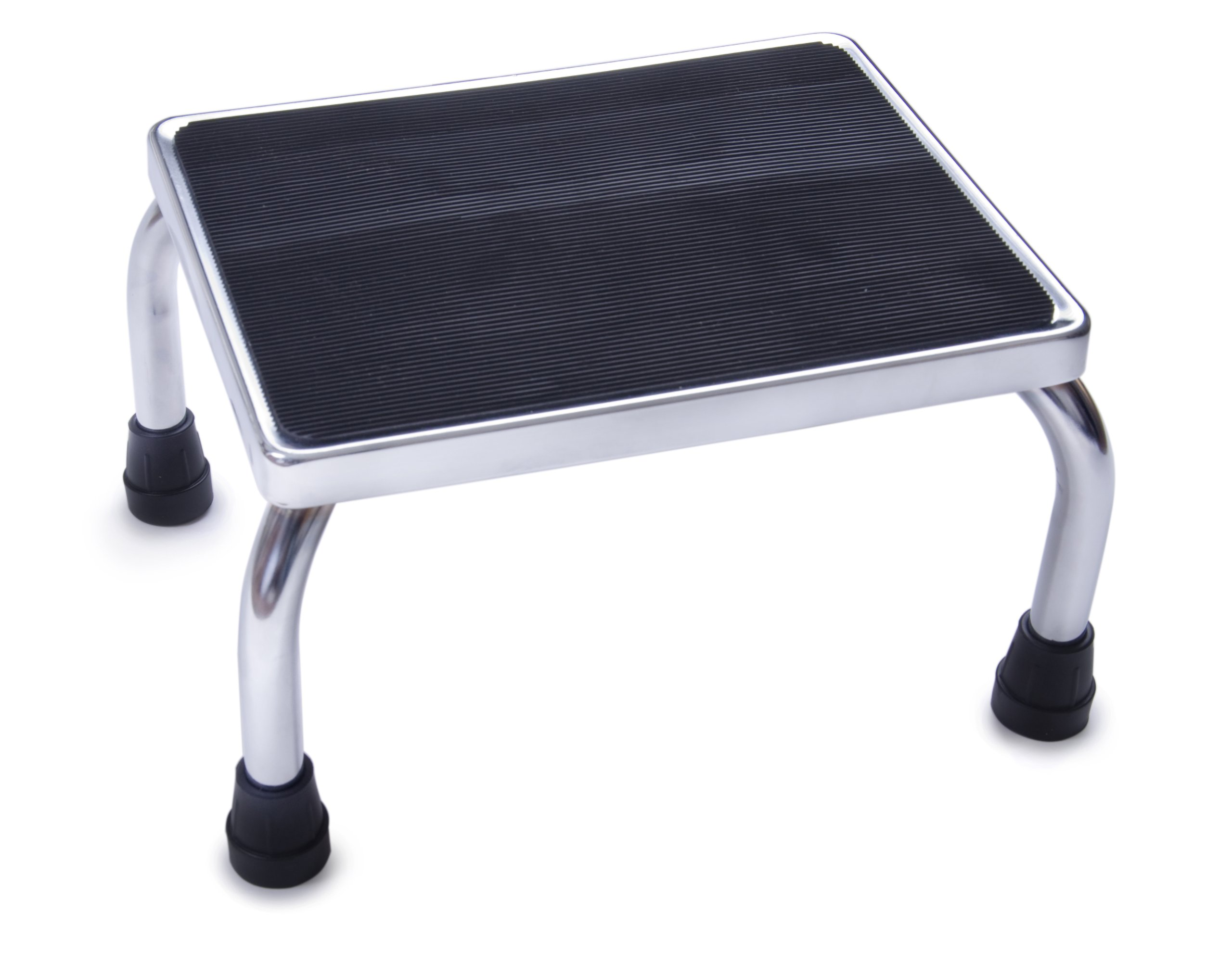 Medline Chrome Foot Stools with Rubber Mat
