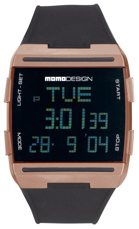 Momodesign 600000650 - Reloj digital de caballero de cuarzo con correa de goma negra: Amazon.es: Relojes