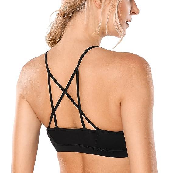 CRZ YOGA - Sujetador Deportivo de Bajo Impacto Yoga Strappy para Mujer