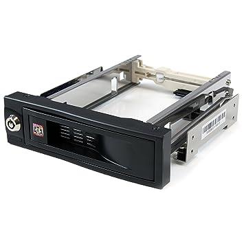 "StarTech.com HSB100SATBK - Rack móvil para disco duro SATA de 3.5"" sin bandeja"