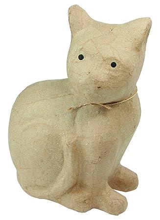 Decopatch MA002O - Figura de Gato para Decorar (21 x 11 x 25 cm): Amazon.es: Hogar