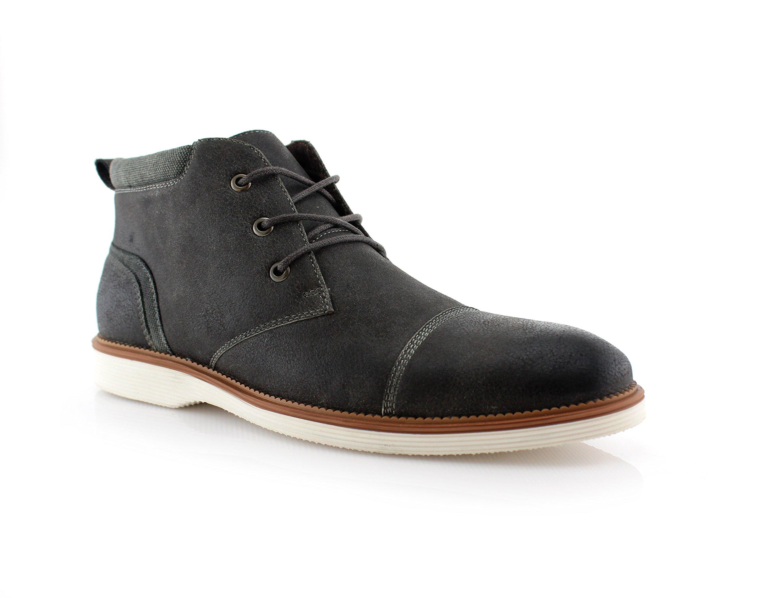 Ferro Aldo Sammy MFA506030 Mens Fashion Casual Mid-Top Sneaker Chukka Boots - Grey, Size 12