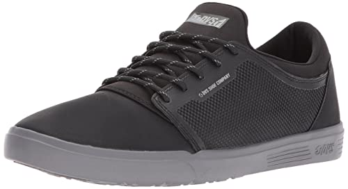 Mens Stratos Lt+ Skate Shoe, Black Cordura Grainy Polyurethane, 8.5 Medium US DVS