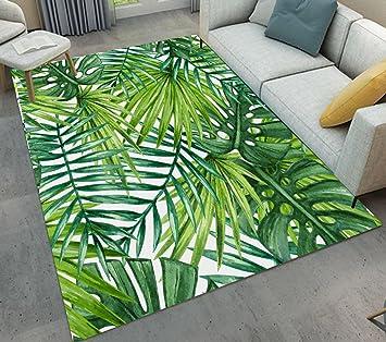 Lb Feuille De Palmier De Foret Tropicale Tapis De Sol Tapis De