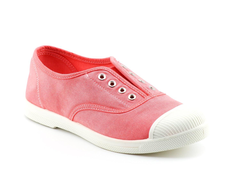 CALICO KIKI Women's Washed Laceless Slip-on Sneakers - Cushioned Soft Laceless Comfort Flat Shoes B07C76DZVD 11 B(M) US|Fuchsia
