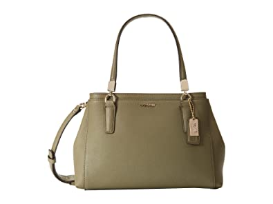 5fd28f43c7471 Coach 30402 Madison Mini Christie Carryall in Saffiano Leather Olive Grey  Green