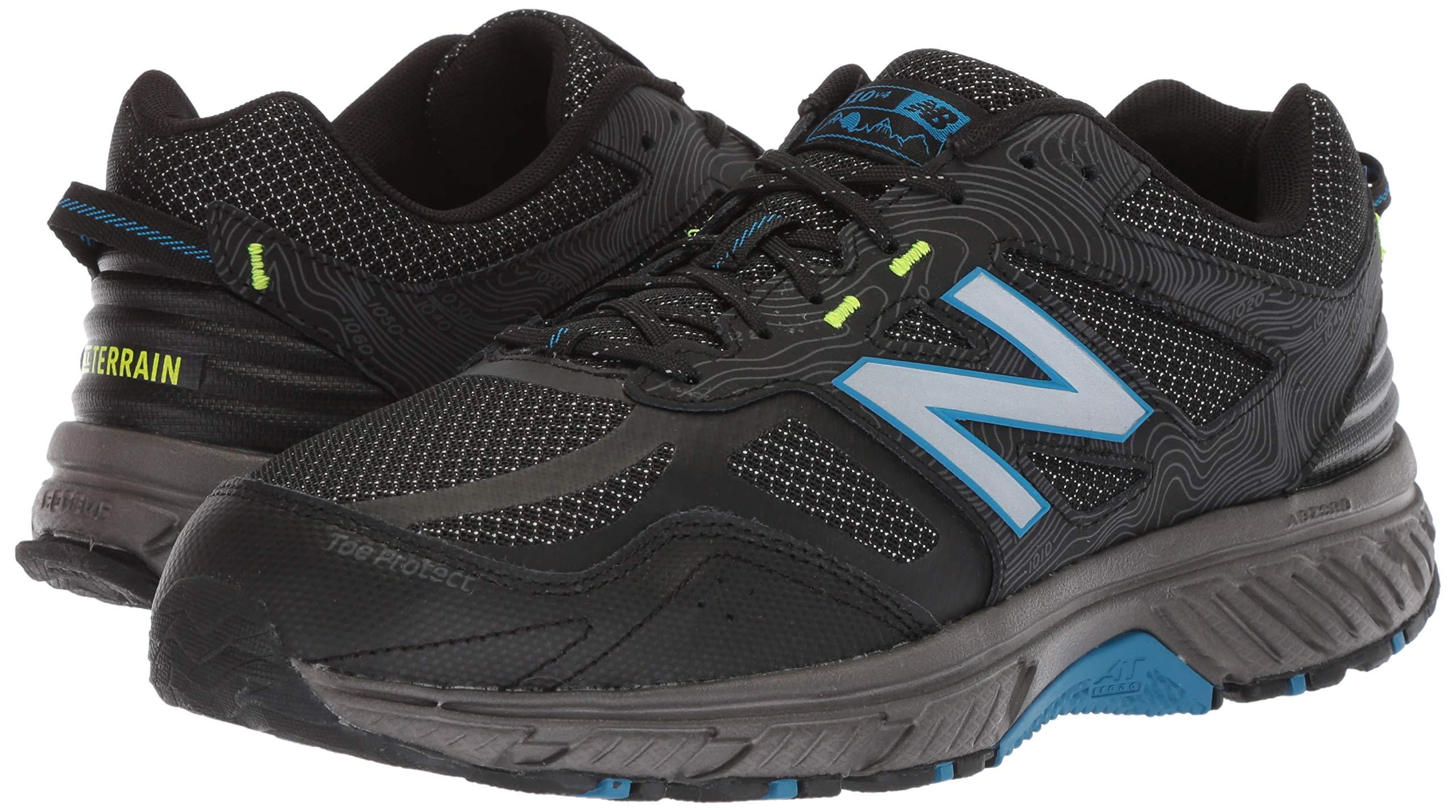 New Balance Men's 510v4 Cushioning Trail Running Shoe, Magnet/Black/Reflective, 7.5 D US by New Balance (Image #6)