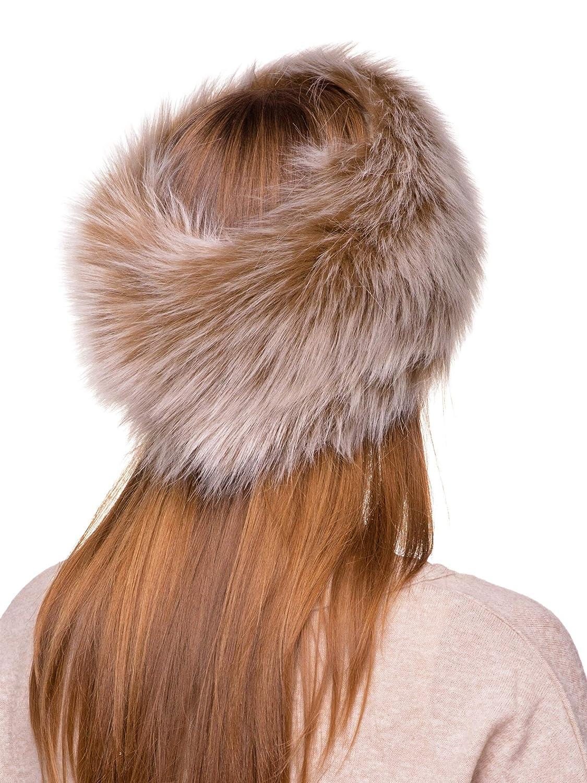 d2c1e3c57ed Futrzane Winter Faux Fur Headband for Women and Girls  (Dark Brown )  Futrzane