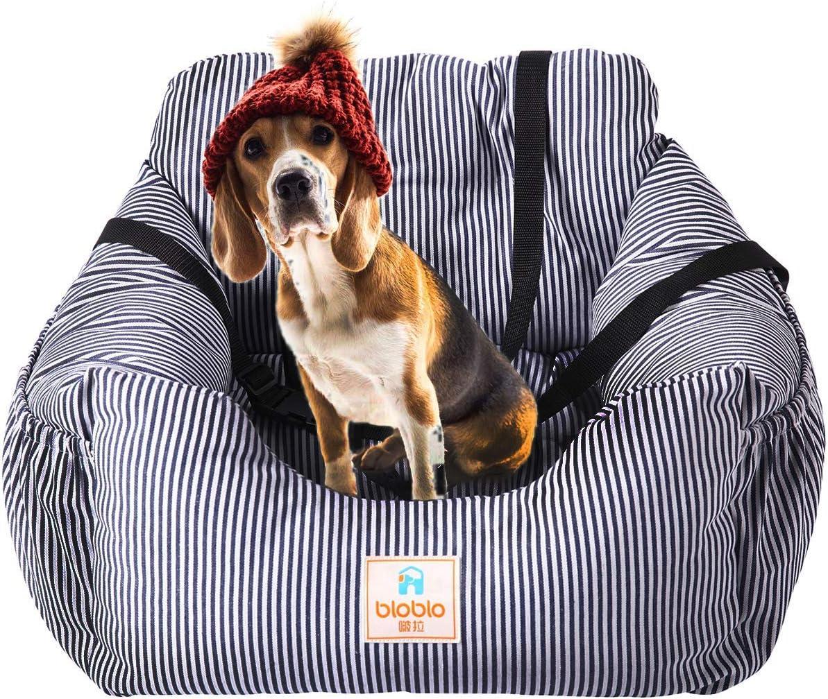 Moniki Autositz Für Hunde Sitzerhöhung Vorne Für Reisen Waschbar Und Rutschfest Mit Gürtel Und Aufbewahrungstasche Haustier