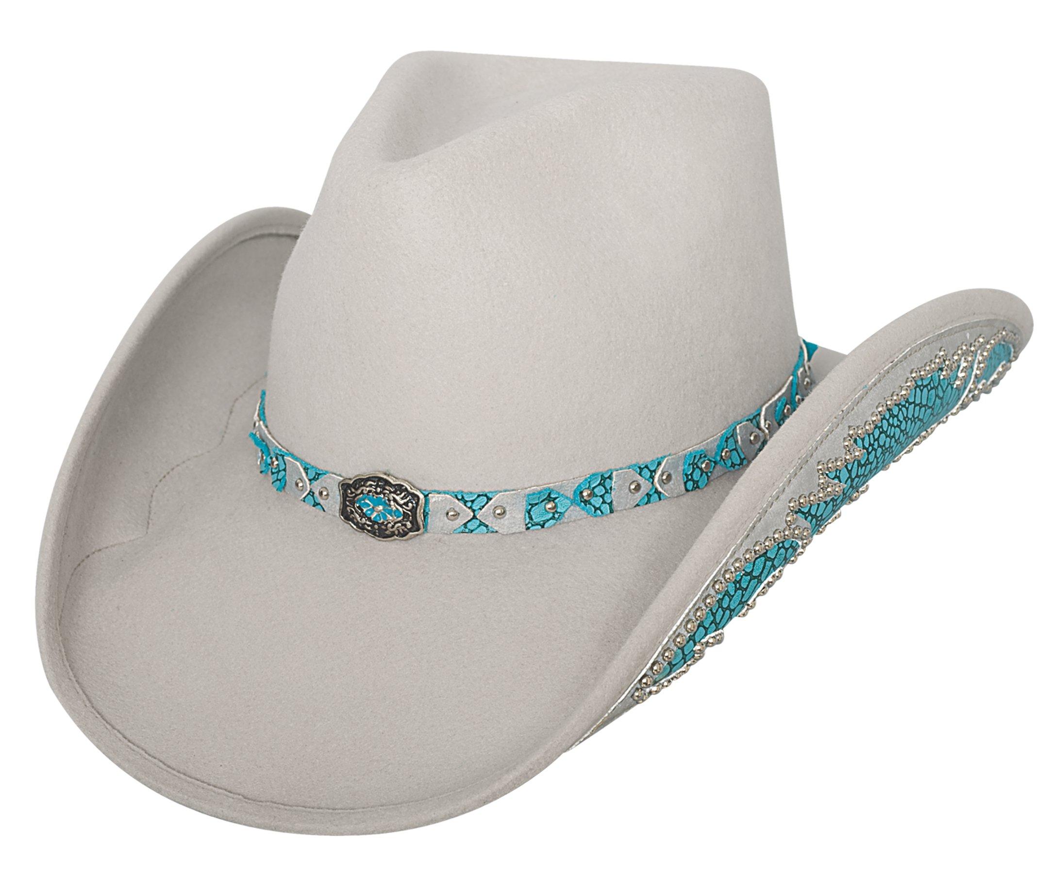 Bullhide Women's Grey Natural Beauty Wool Cowgirl Hat Silverbelly Medium